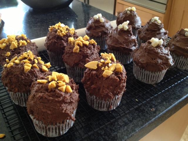 decorated honeycomb cupcakes.JPG