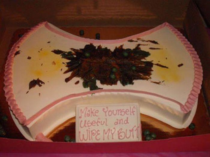 Creepy Birthday Card Stripper Cake